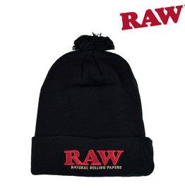 RAW RAW Pompom Hat - Black
