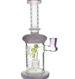 "9"" Honeycomb Etched Banger Hanger w/ Honeycomb Perc - Purple"