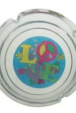 """4"""" Glass Ashtray - Love"""