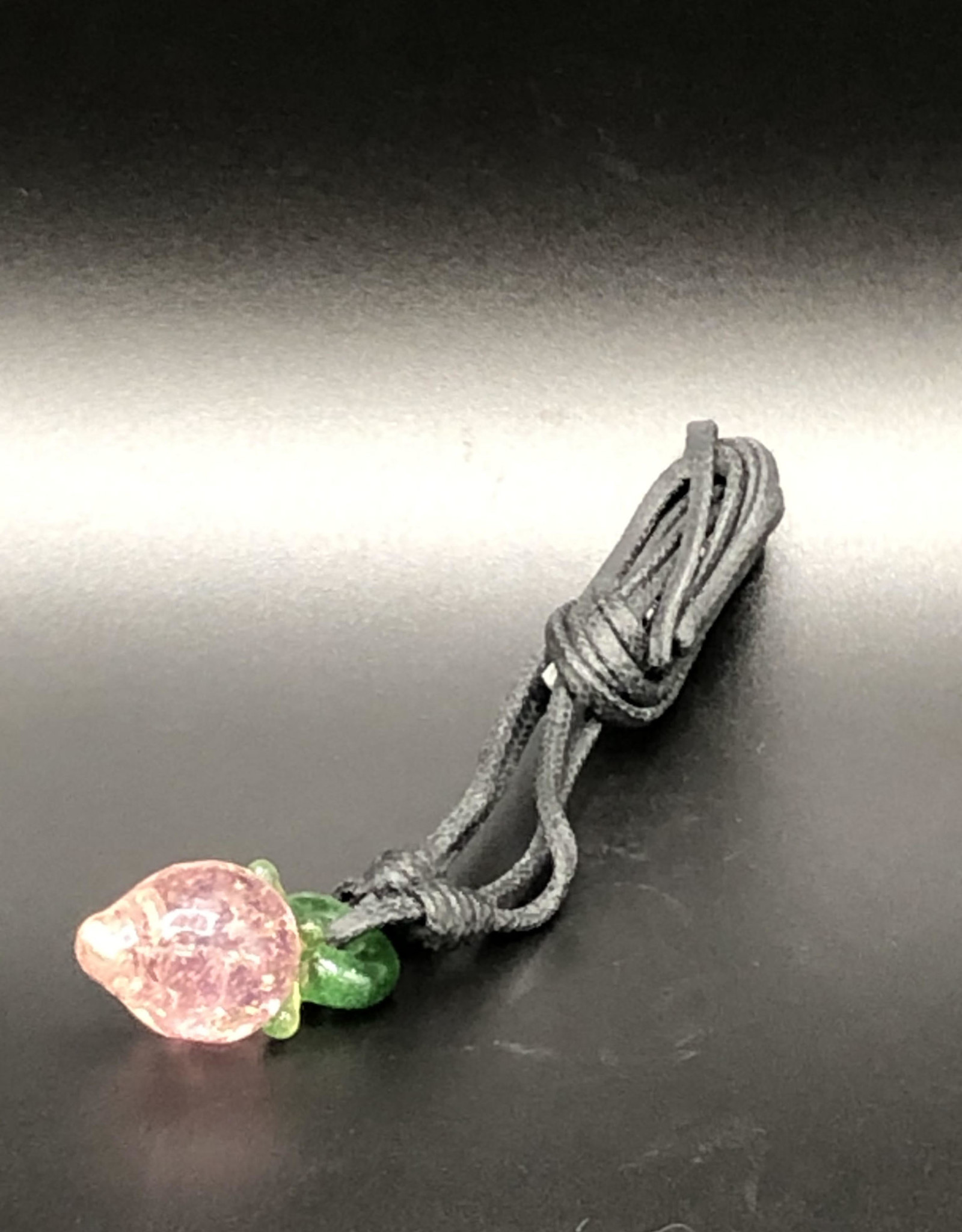 Pink Strawberry Pendant by Glasea