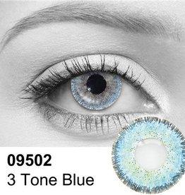3 Tone Blue Contact Lenses