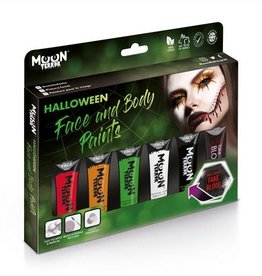 Halloween Face & Body Paint Boxset - 5 tubes
