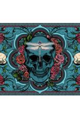 """24"""" x 36"""" 3D Tapestry - Skull & Roses"""