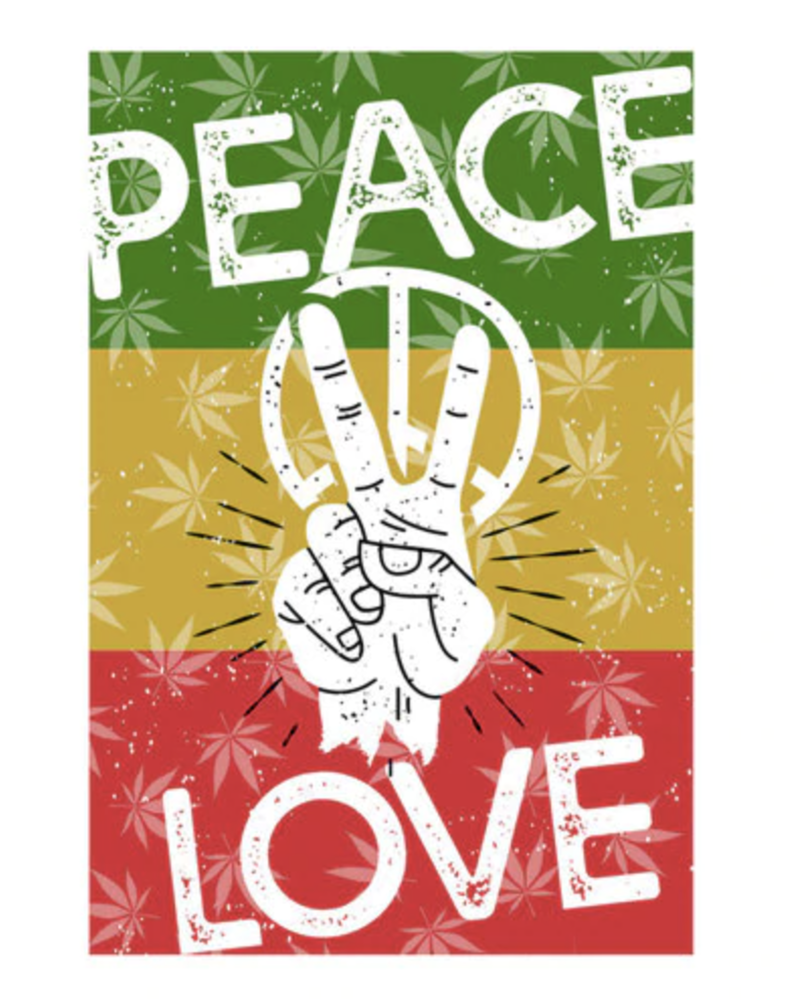 """24"""" x 36"""" Tapestry - Peace & Love"""