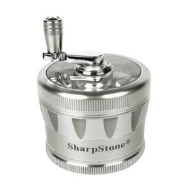 "SharpStone V2 2.5"" 4 Piece Crank Grinder - Silver"