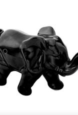 Ceramic Elephant Pipe - Black