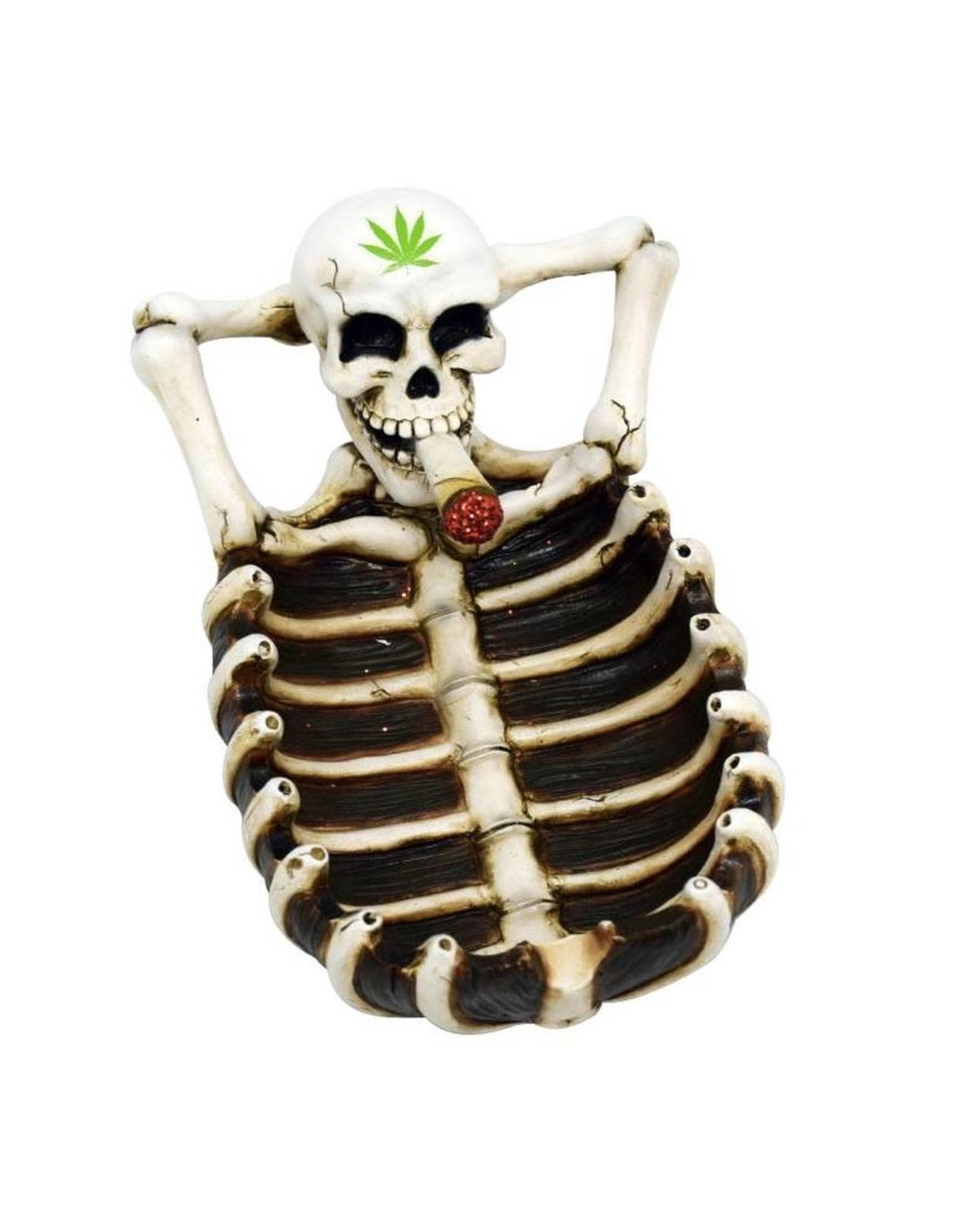 Skeleton w/ Leaf Ashtray