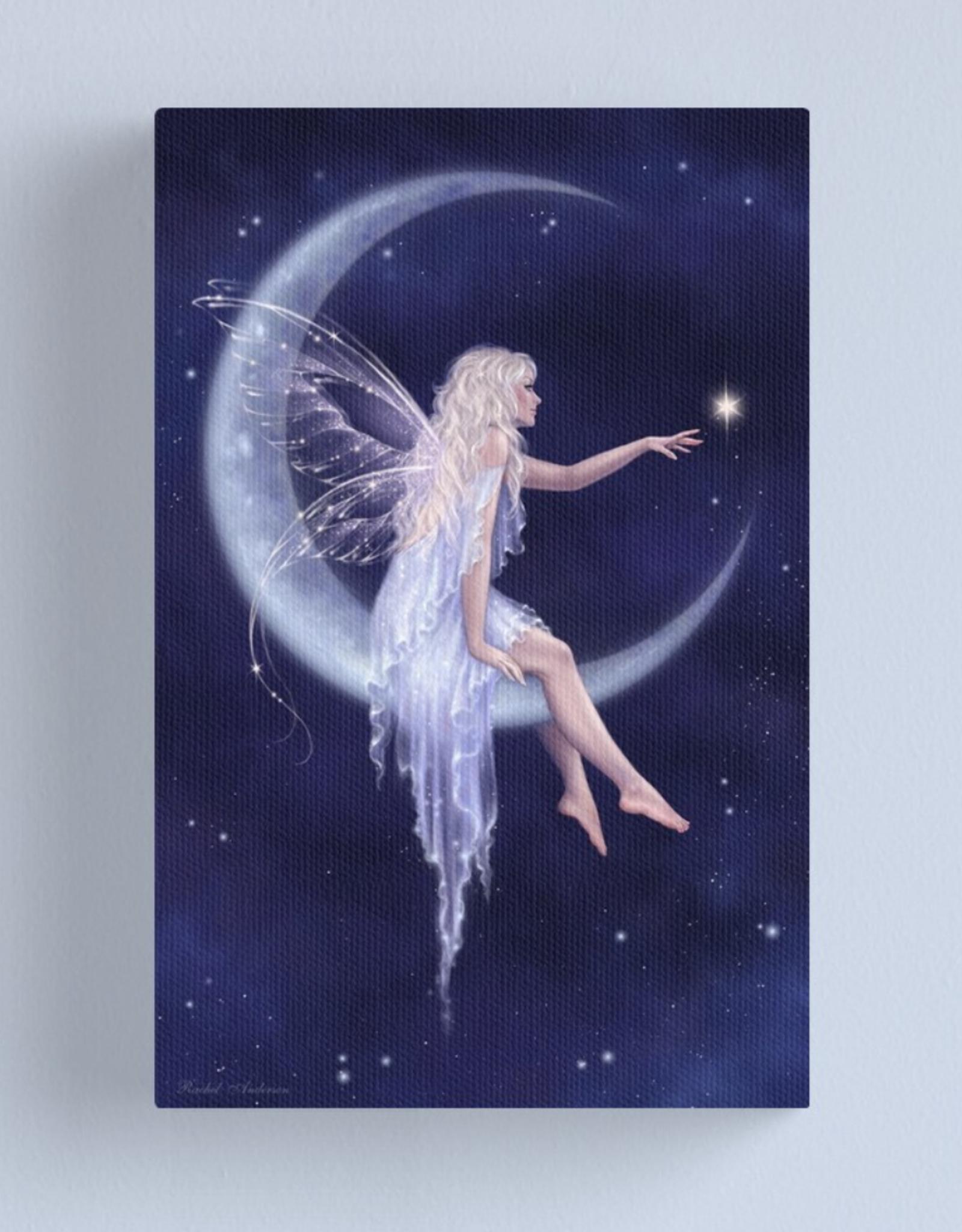 Birth of a Star Moon Fairy Canvas - Medium