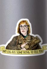Twin Peaks Log Lady Sticker