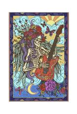 "60"" x 90"" 3D Tapestry - Hippie Guitar"