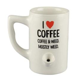 Wake & Bake 8oz Pipe Mug - I Heart Coffee
