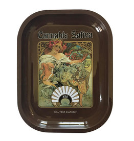 "Kill Your Culture Cannabis Sativa Rolling Tray - 5.5"" x 7"""