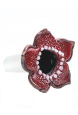 14mm Male Stranger Flower Bowl by Empire Glassworks