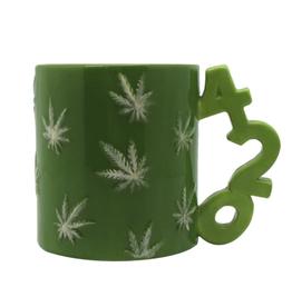 420 Handle with Leaves Coffee Mug