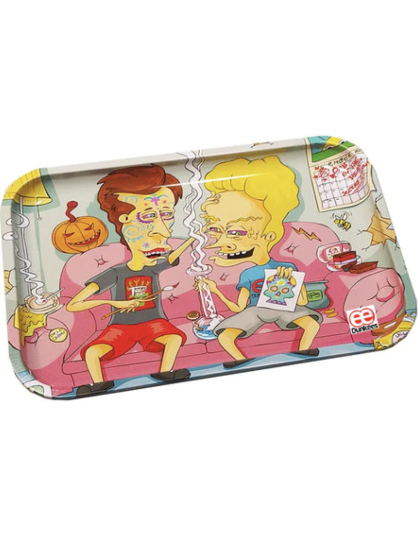 """Dunkees 13"""" x 9"""" Rolling Tray - Dab of the Dead"""
