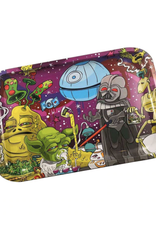 """Dunkees 11.75"""" x 7.88"""" Rolling Tray - Dab Wars"""