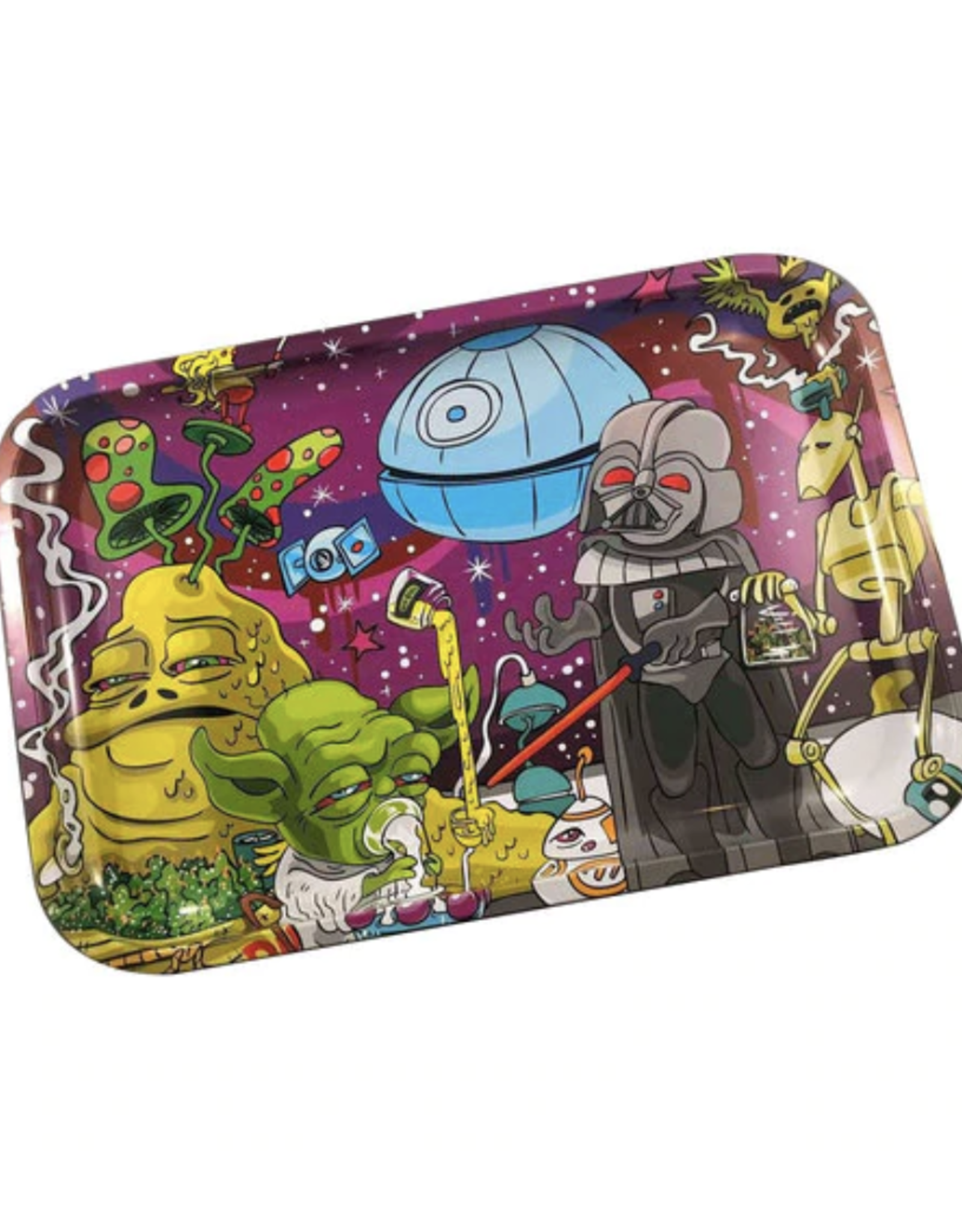 """Dunkees 13"""" x 9"""" Rolling Tray - Dab Wars"""