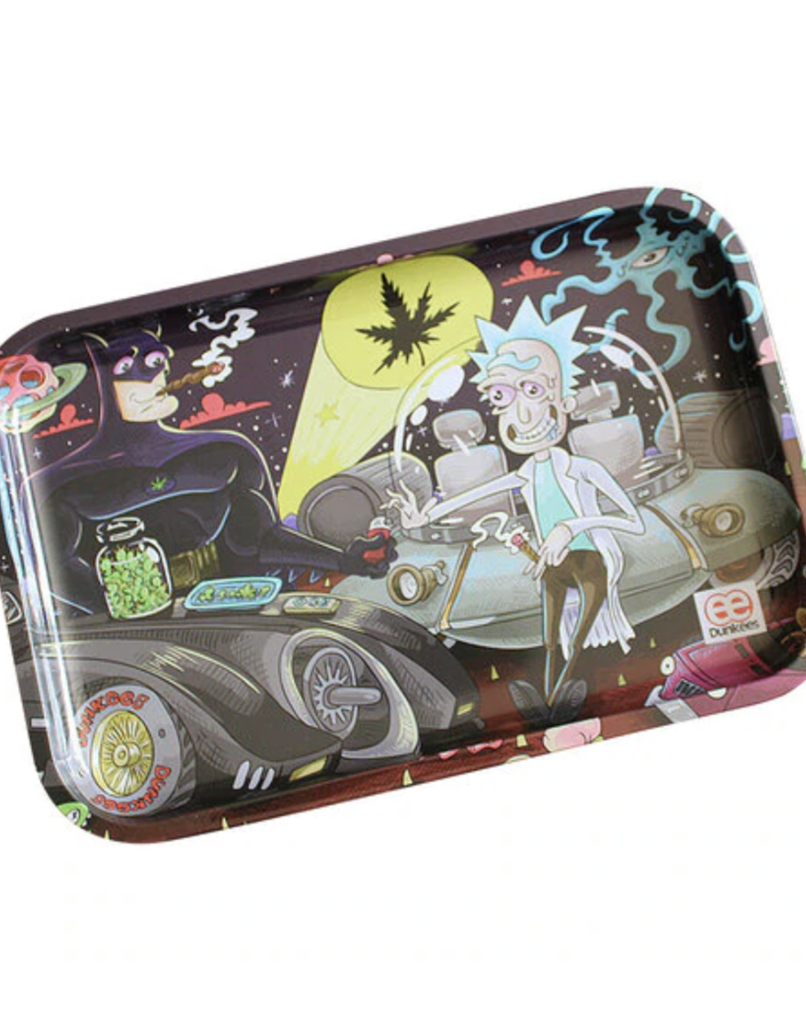 """Dunkees 13"""" x 9"""" Rolling Tray - Smoke Signals"""