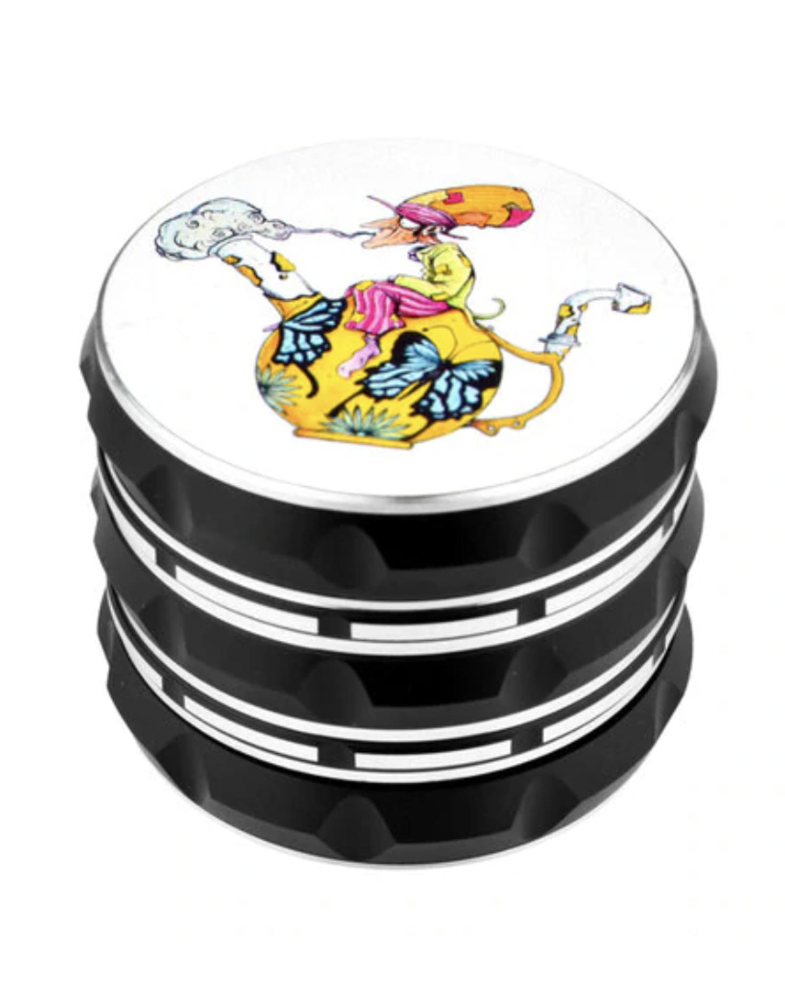 """Sean Dietrich Art 2.25"""" 4 Piece Grinder - Teapot Hatter"""
