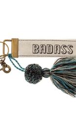 Canvas Tassel Key Chain - Badass