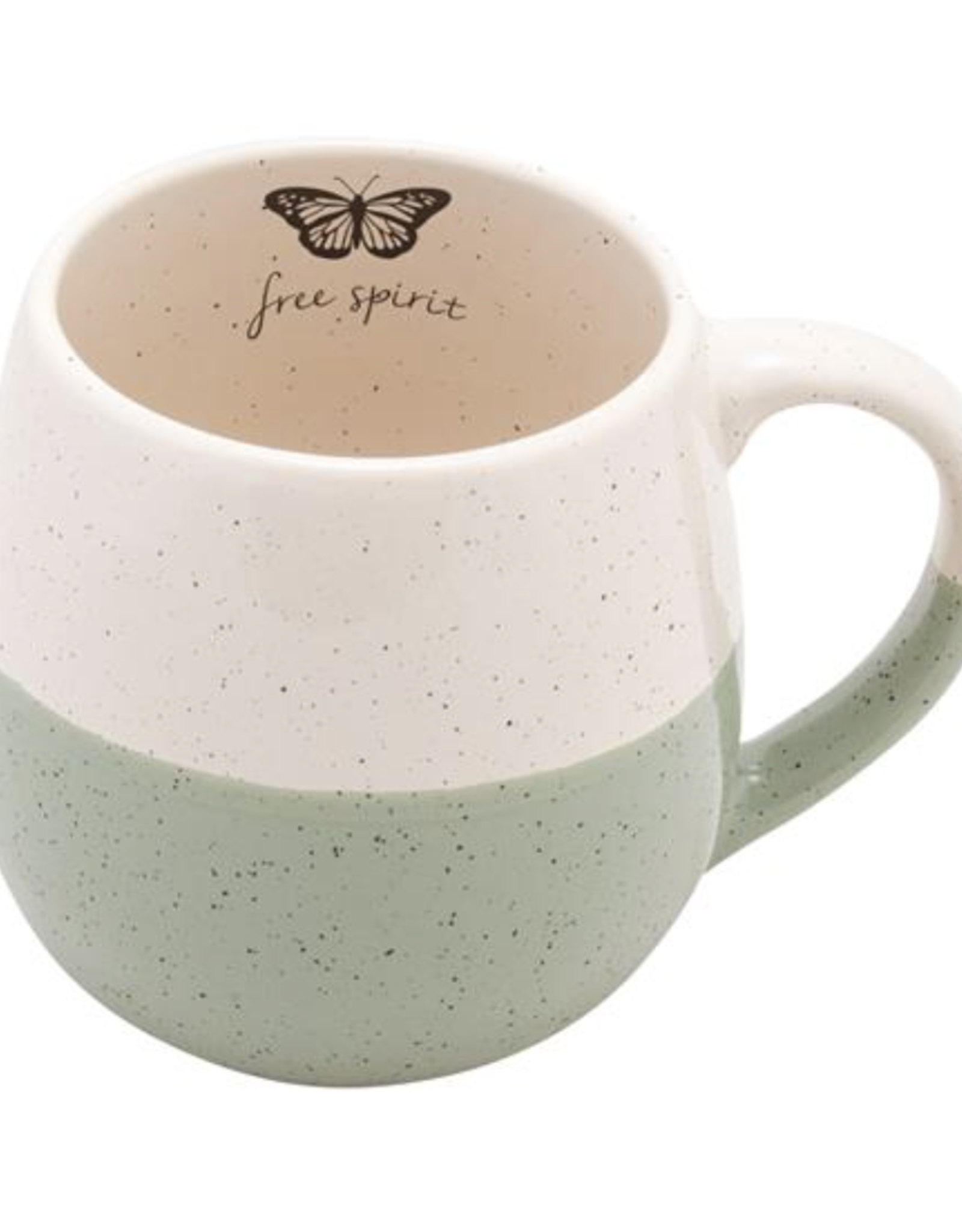 Hand Dipped Speckled Mug - Butterfly