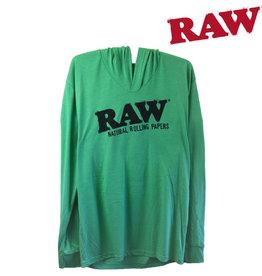 RAW RAW Lightweight Green Hoodie