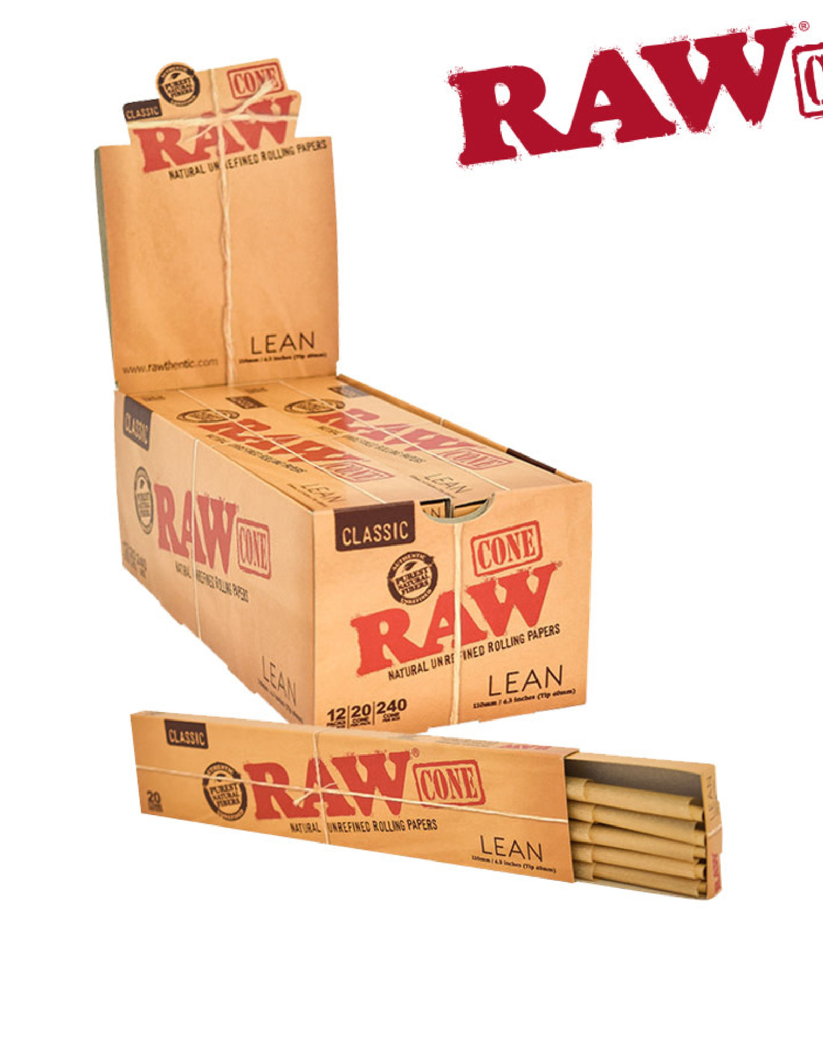 RAW RAW Classic Pre-Rolled Cone - Lean (20 Pack)