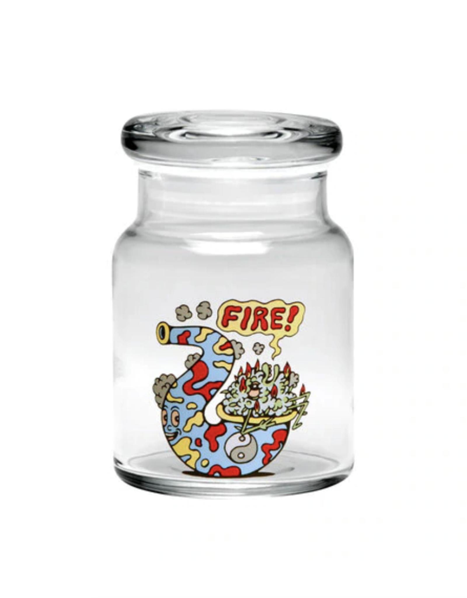 420 Science Pop Top Jar - Fire Bud