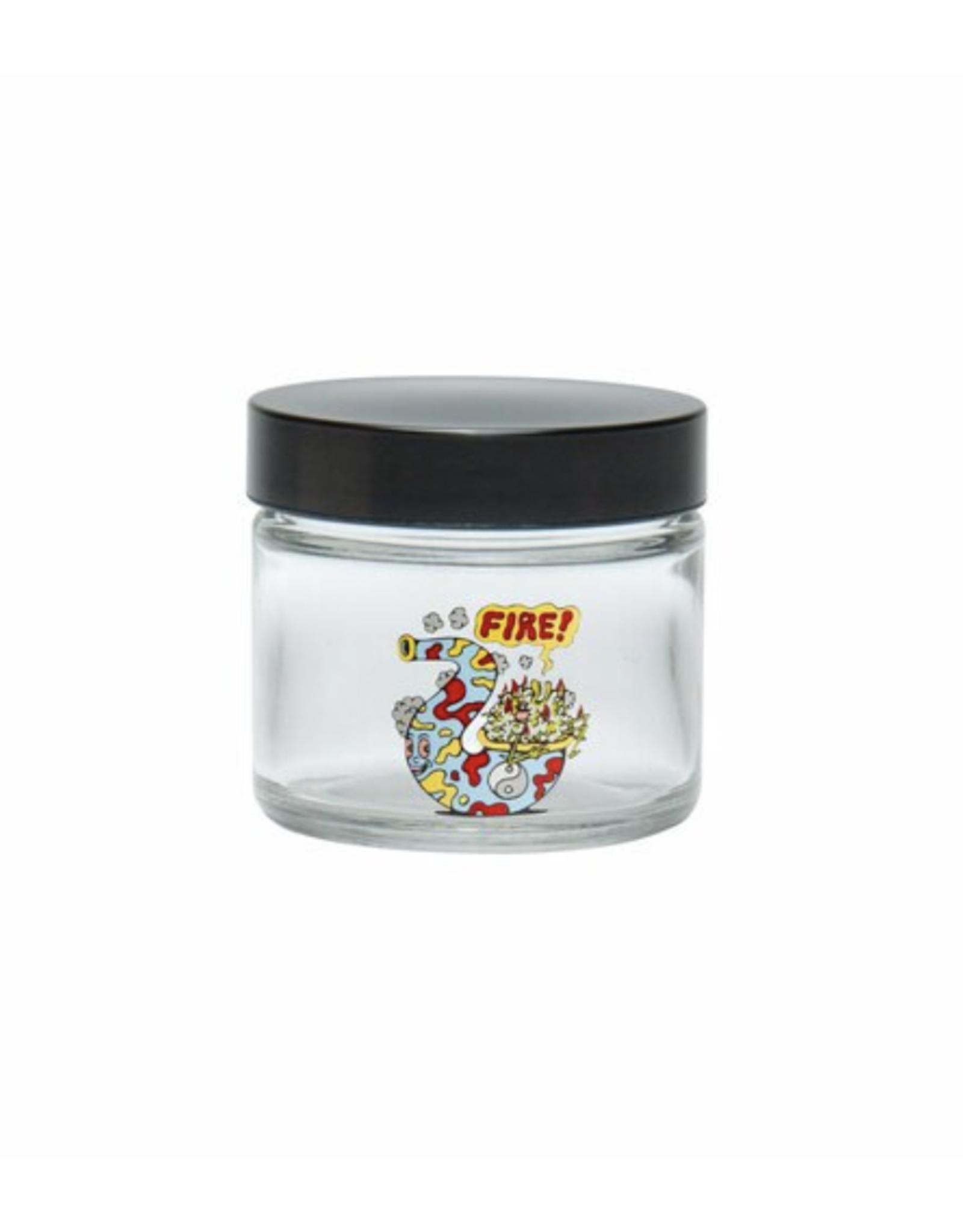 420 Science Small Clear Screw Top Jar - Fire Bud