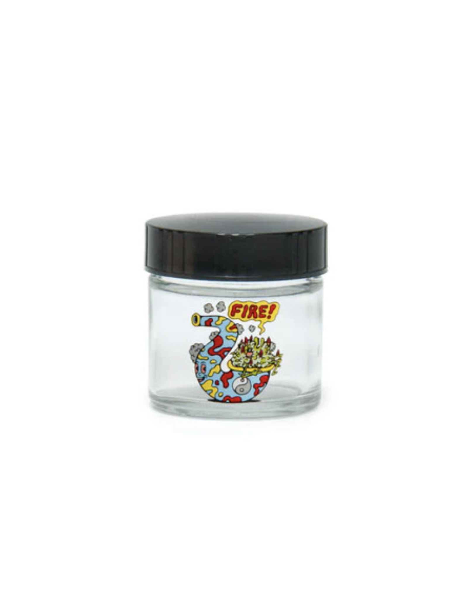 420 Science Extra Small Clear Screw Top Jar - Fire Bud