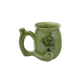High Tea Ceramic Mug w/ Pipe - Green