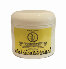 Vanilla Lemongrass Whipped Body Cream 4oz by Soco Soaps
