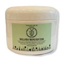 Vanilla Mint Whipped Body Cream 4oz by Soco Soaps