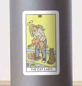 Modern Tarot - The Cat Lady Sticker