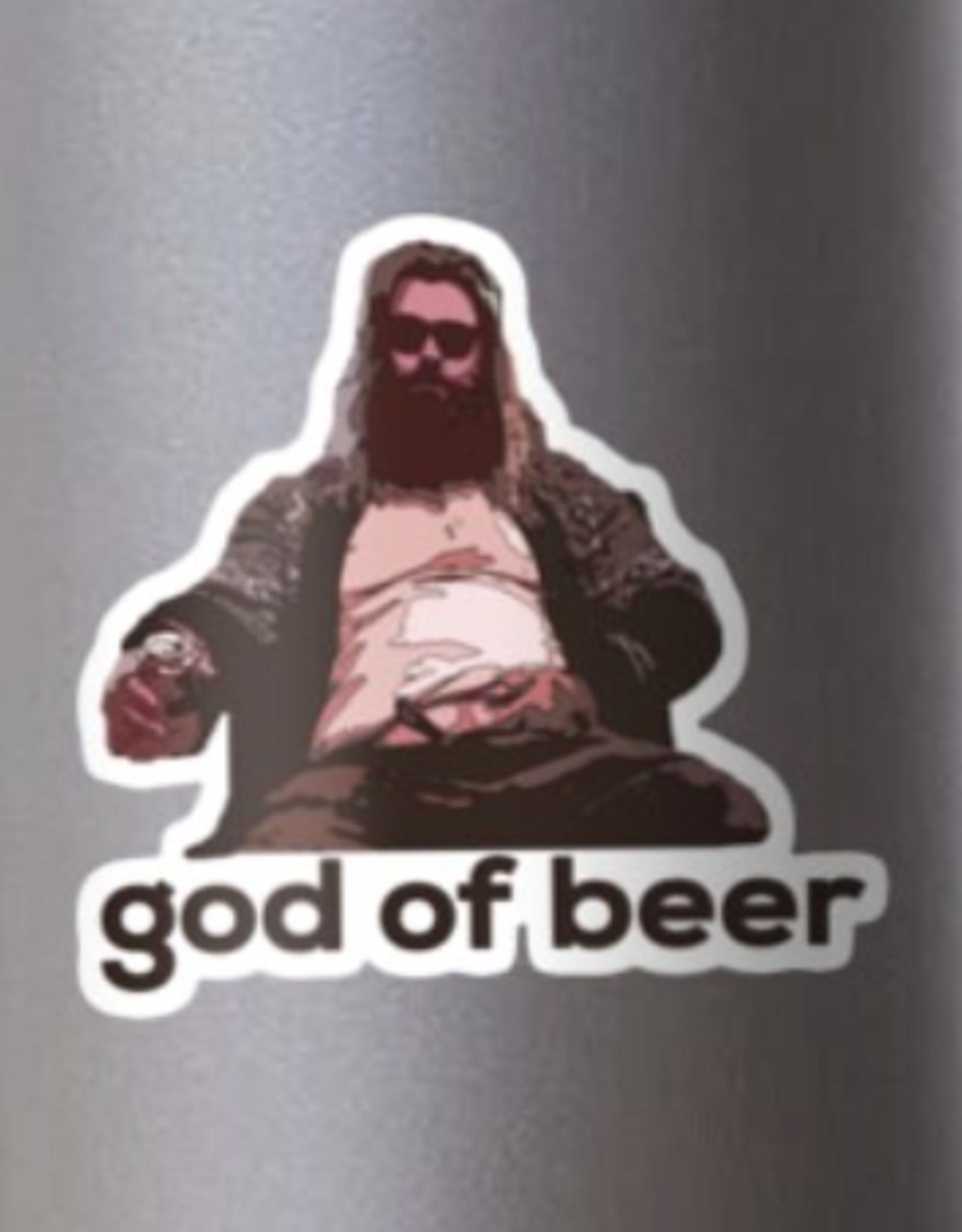 God of Beer Sticker
