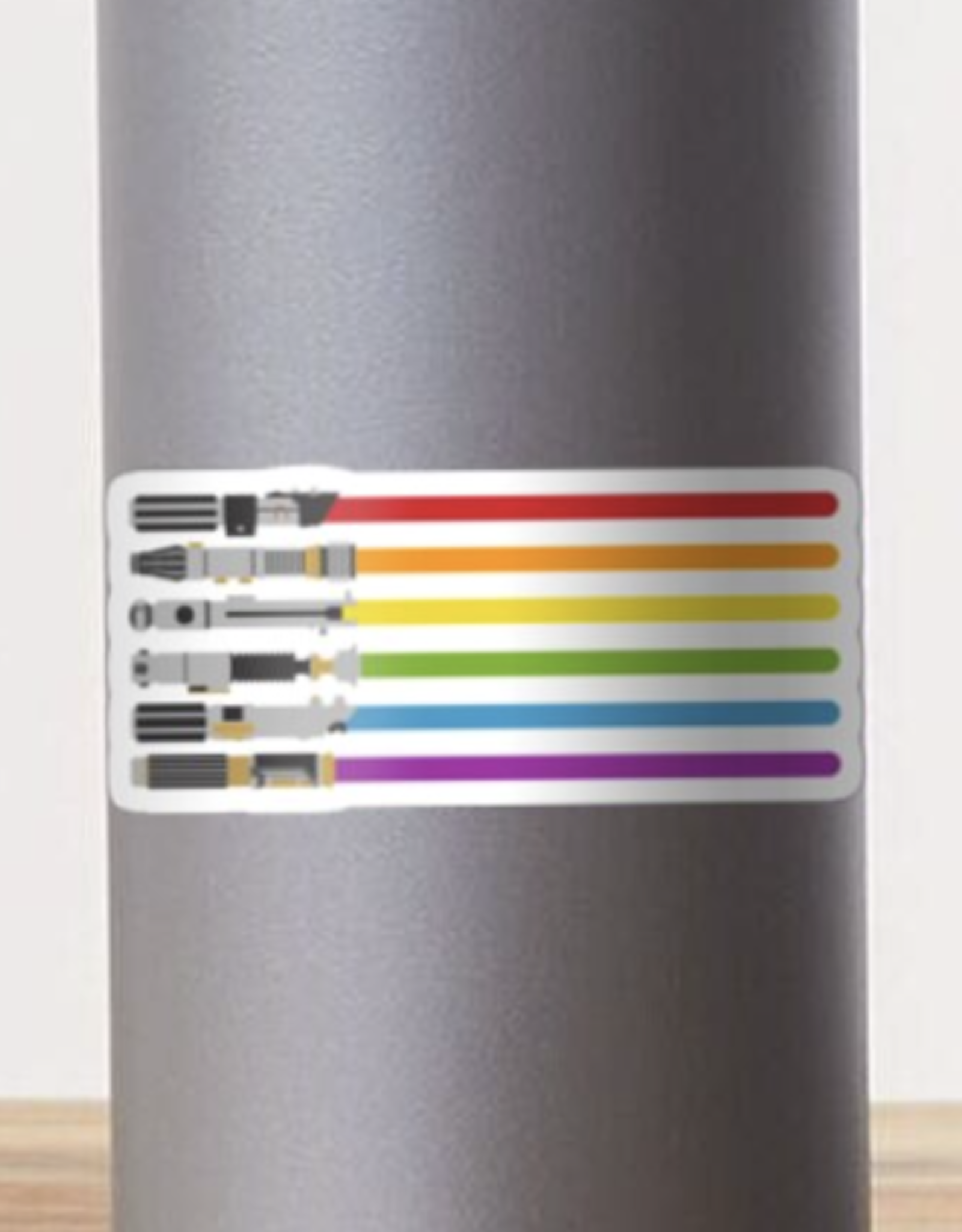 Lightsaber Rainbow Sticker