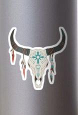 Cow Skull Sticker