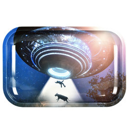 """Pulsar Pulsar 11"""" x 7"""" Rolling Tray - Take Me To Your Leader"""