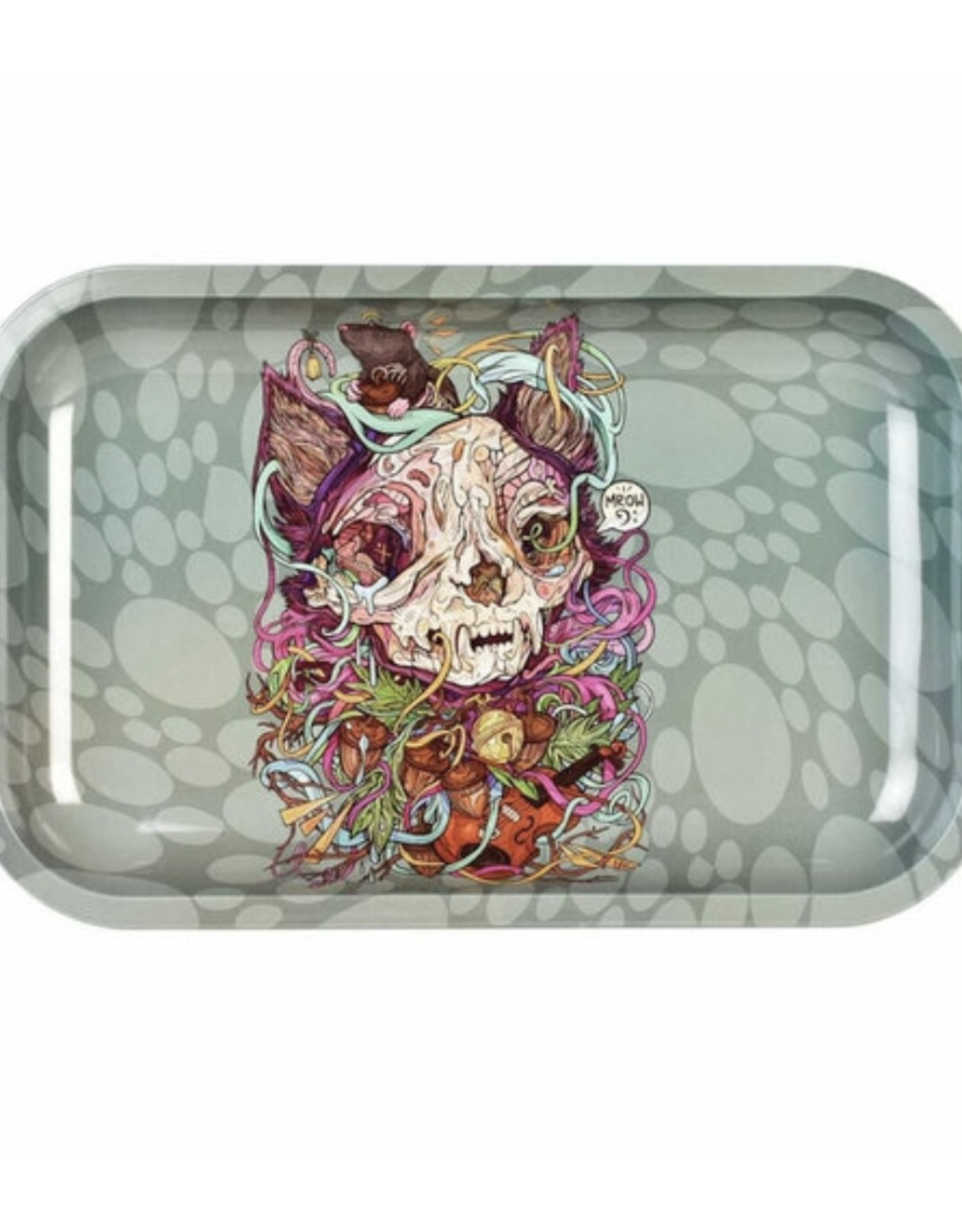 """Pulsar Pulsar 11"""" x 7"""" Rolling Tray - Cat & Mouse"""