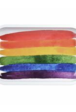 "Pulsar Pulsar 11"" x 7"" Rolling Tray - Rainbow Paint"