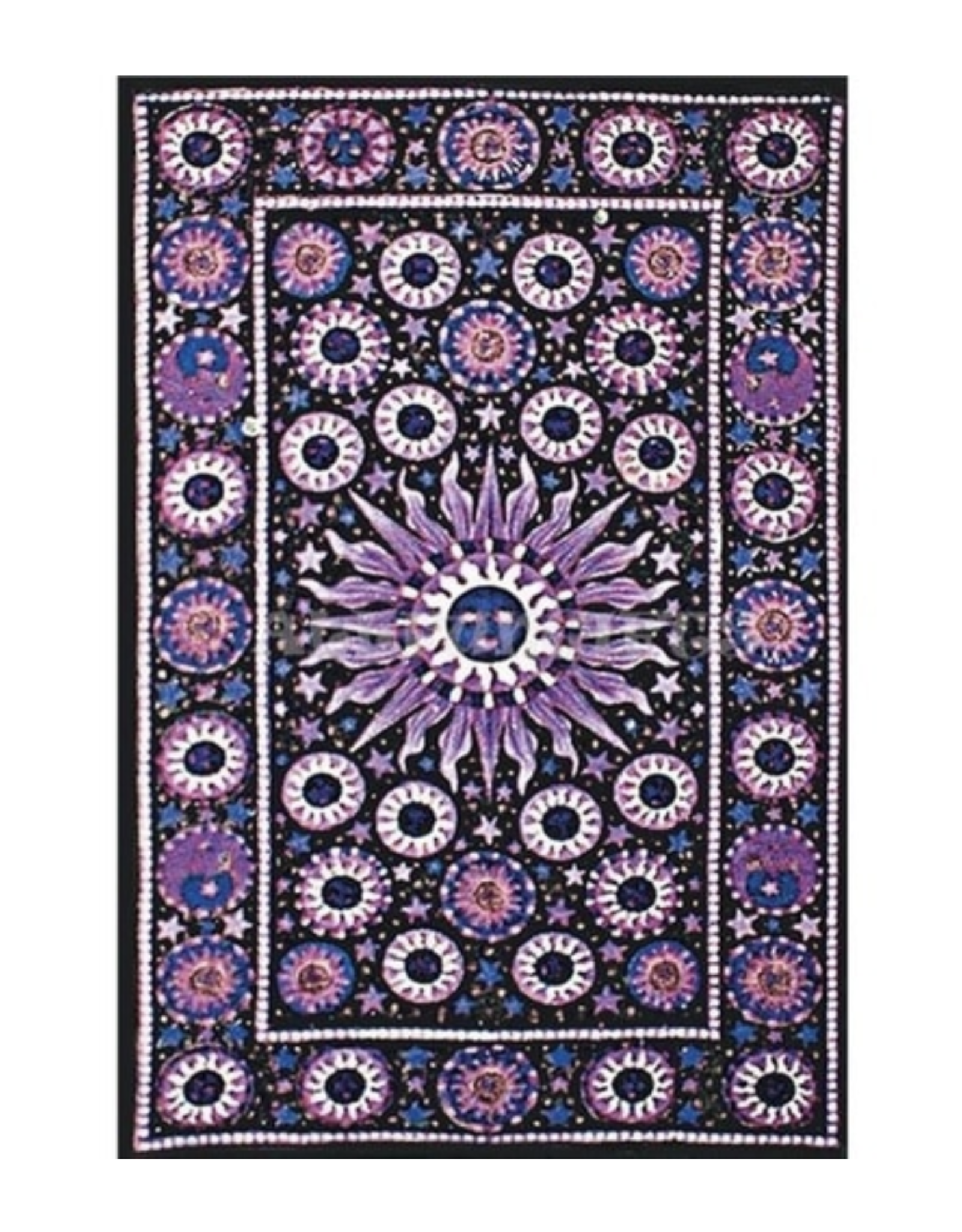 "ThreadsHeads 55"" x 85"" Tapestry - Sun, Moon & Stars"