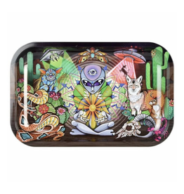 """Pulsar 11"""" x 7"""" Rolling Tray - Alien Life Force"""