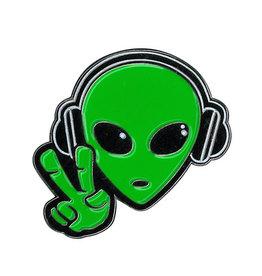 Alien Headphones Enamel Pin