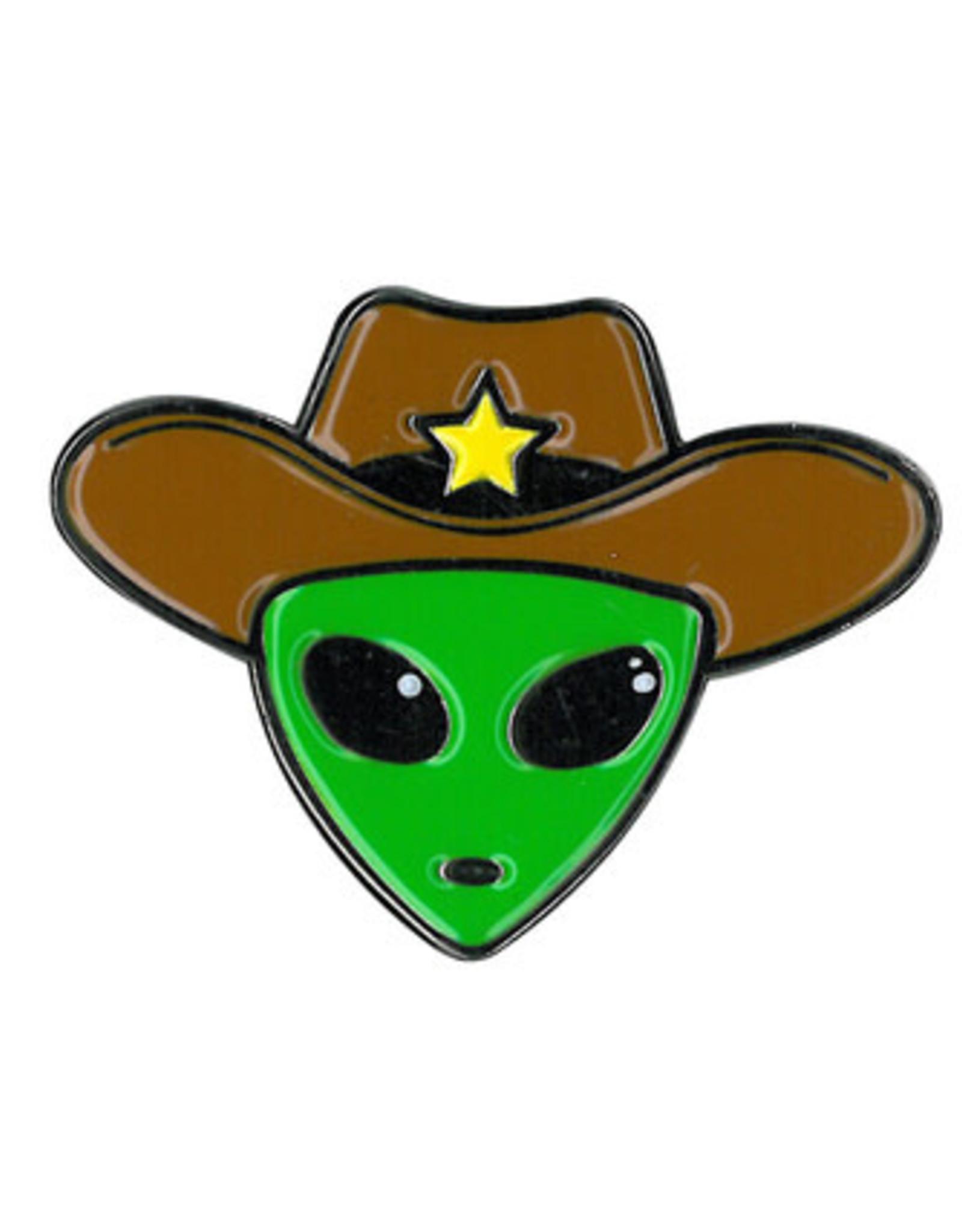Alien Cowboy Enamel Pin