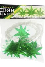 High Lights - 1 String of 10 Leaf LED Lights, 12' Long