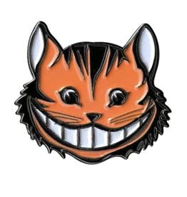 Cheshire Cat Head Enamel Pin