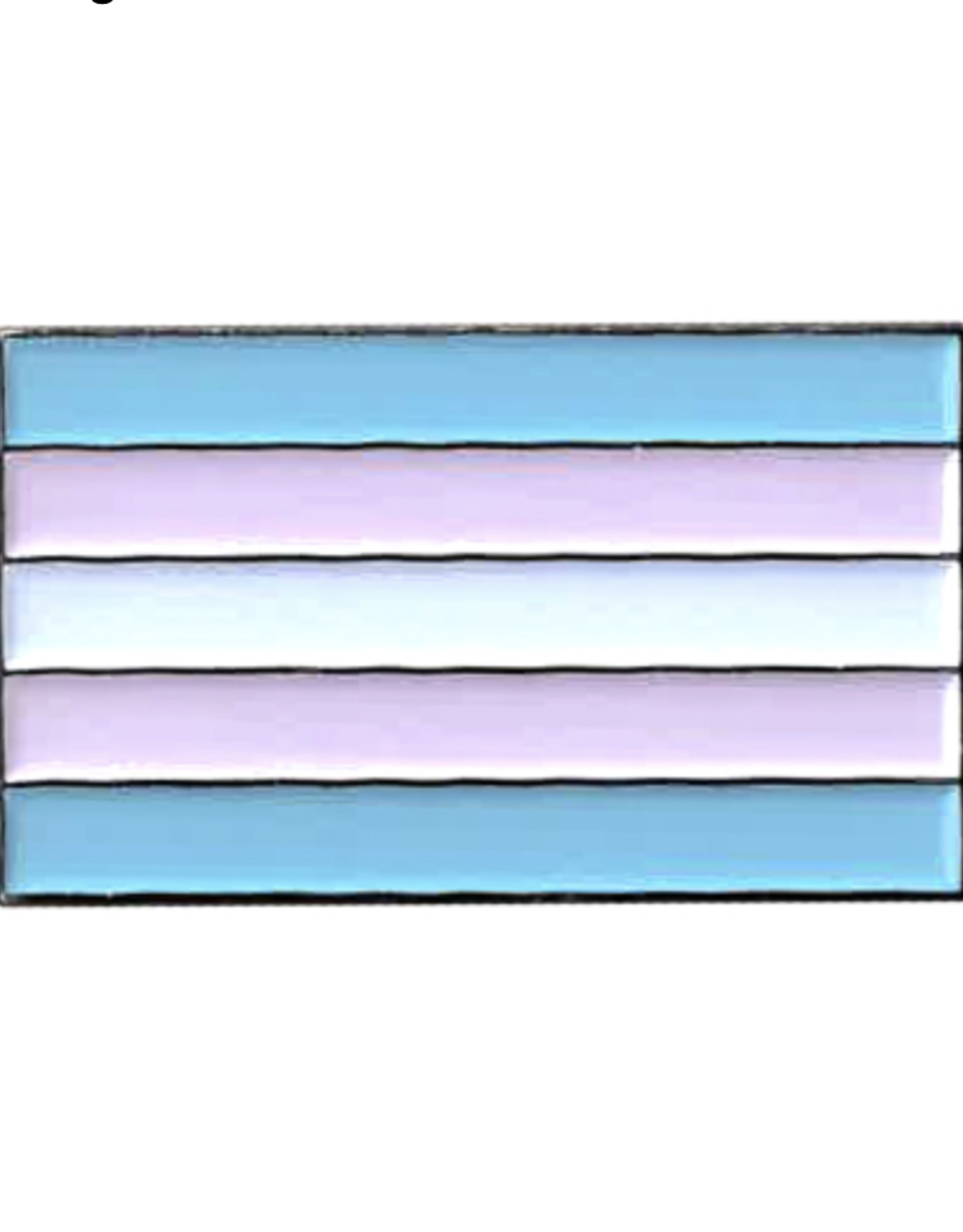 Trans Flag Enamel Pin