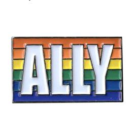 Rainbow Ally Enamel Pin
