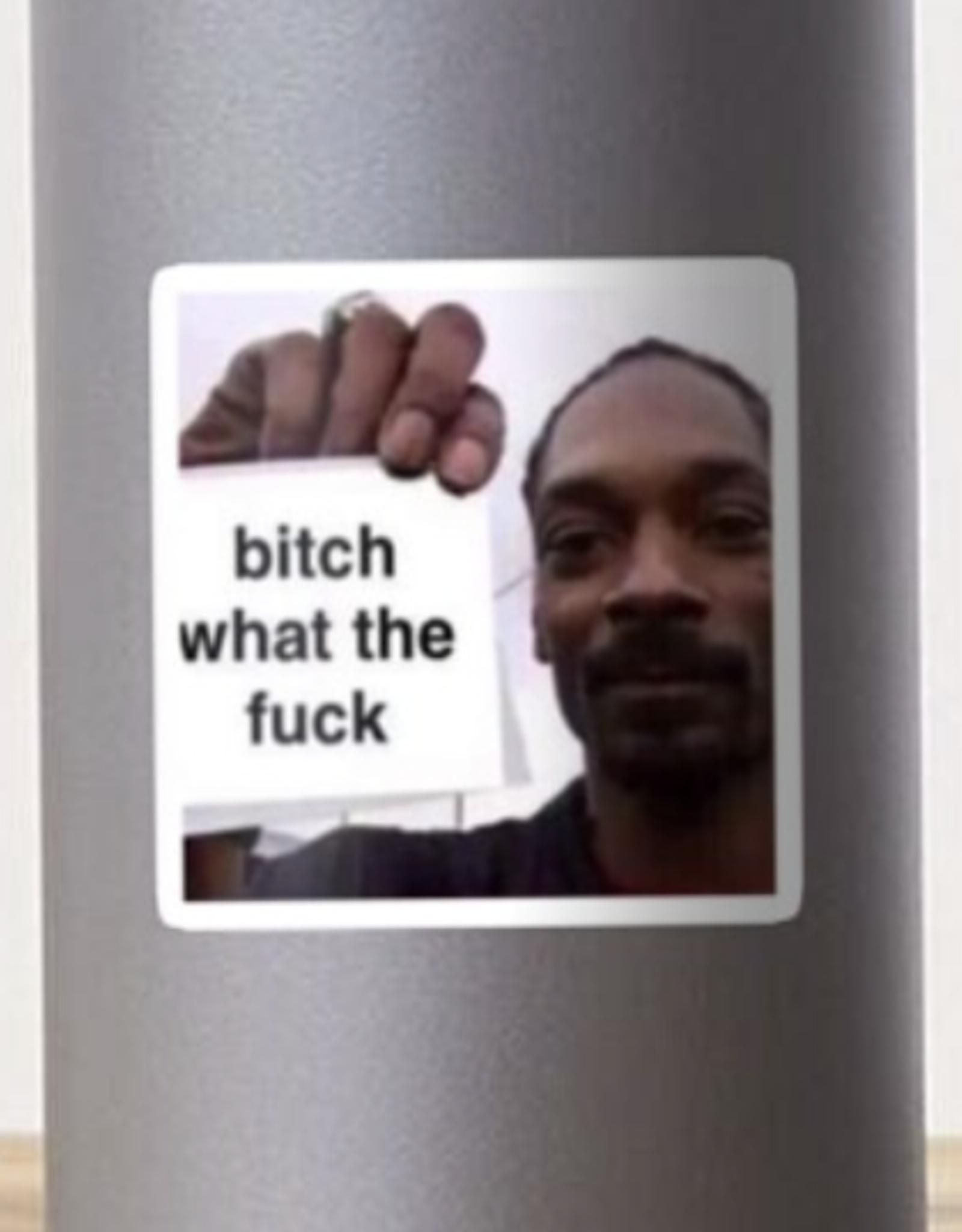 Snoop Dogg WTF Sticker