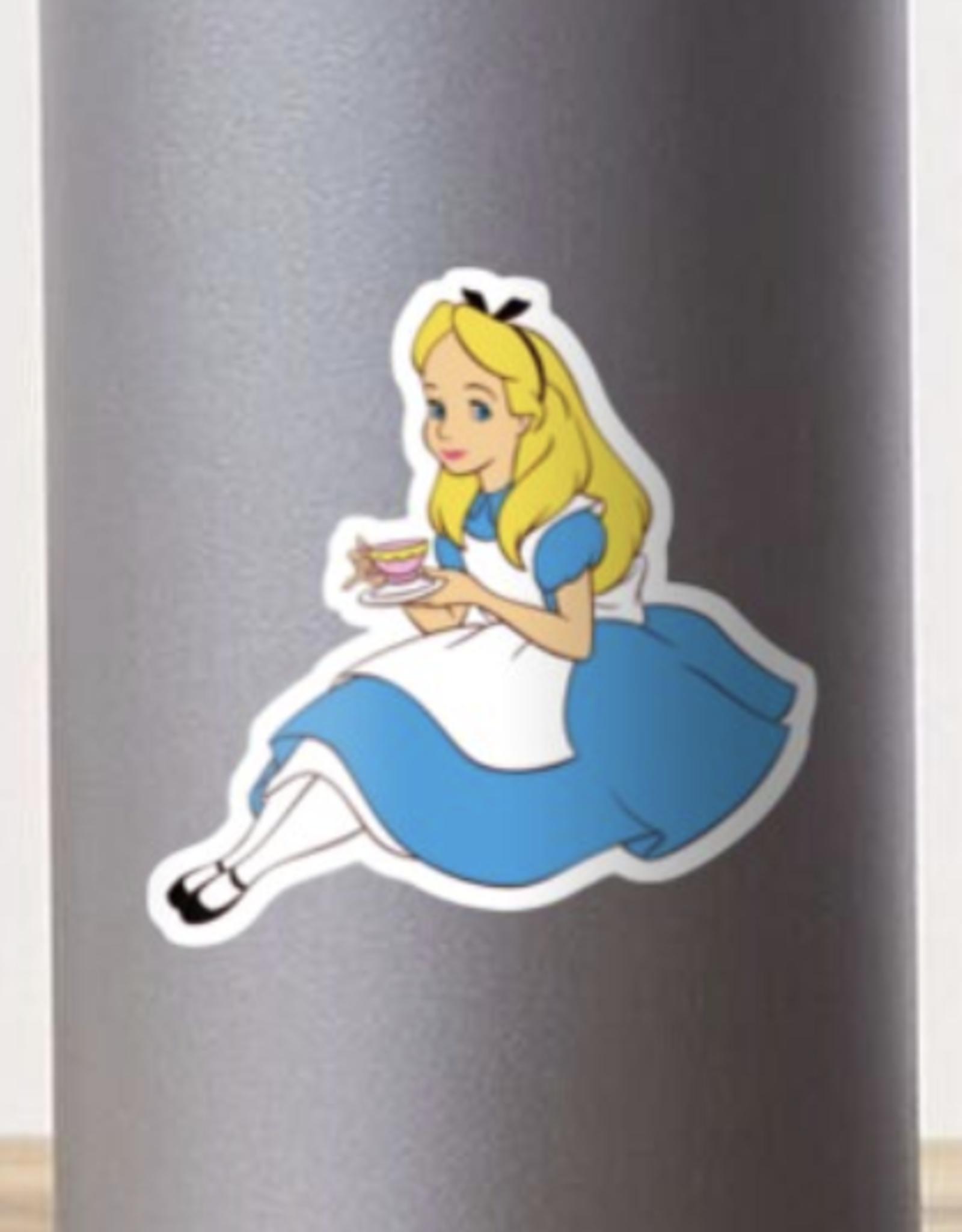 Alice with Tea Sticker
